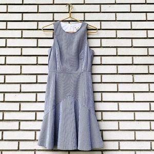 J. Crew Factory Flared Seersucker Dress